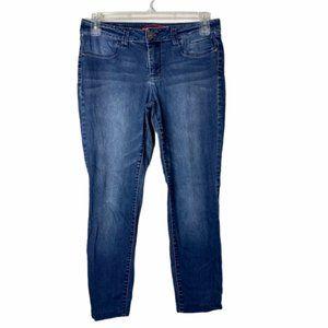 Elle Womens Blue Mid Rise Skinny Denim Jeans Sz 10